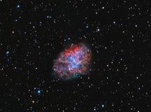 Nebulosa de cangrejo M1 Foto de archivo libre de regalías