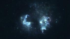 Nebulosa de expansão video estoque