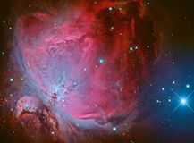 Nebulosa de Horsehead ou Barnard 33 na constelação Orion tomado com a câmera do CCD através do telescópio médio da distância foca Fotos de Stock