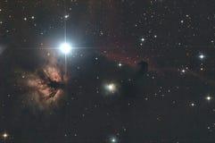 Nebulosa de Horsehead y del fuego Imágenes de archivo libres de regalías
