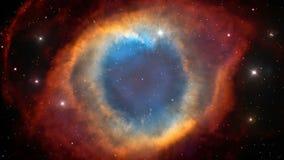 Nebulosa de la hélice en espacio exterior stock de ilustración