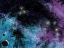 Nebulosa de Starscape Imagens de Stock