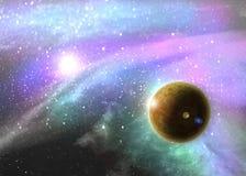 Nebulosa del espacio profundo de la fantasía Fotografía de archivo libre de regalías