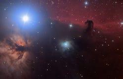 Nebulosa del hidrógeno de HorseHead Imagen de archivo libre de regalías