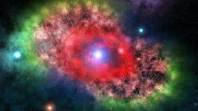 Nebulosa dell'occhio del gatto video d archivio