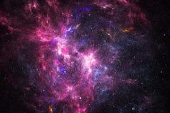 Nebulosa dello spazio profondo con le stelle Fotografia Stock Libera da Diritti