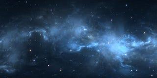 Nebulosa dello spazio profondo Nuvola interstellare gigante con le stelle Illustrazione Vettoriale