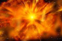 Nebulosa di esplosione della stella dello spazio dell'universo Immagine Stock