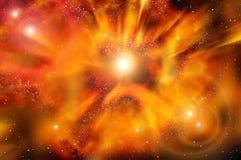 Nebulosa di esplosione della stella dello spazio dell'universo Fotografia Stock