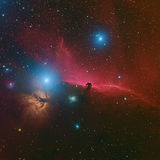 Nebulosa di Horsehead o Barnard 33 nella costellazione Orione preso con la telecamera CCD tramite il telescopio medio di lunghezz Immagine Stock Libera da Diritti