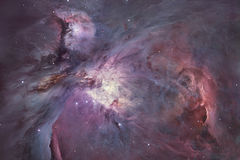 A nebulosa difusa de Orion Nebula Messier 42 na constelação Orion Fotografia de Stock