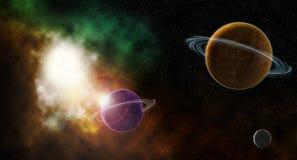 Nebulosa do espaço ilustração royalty free