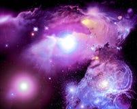 Nebulosa do espaço Fotografia de Stock