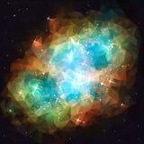Nebulosa do espaço profundo baixo poli ilustração royalty free