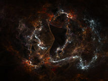 Nebulosa do Fractal Imagem de Stock