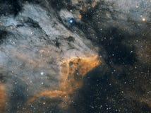 A nebulosa do pelicano, largamente fotografia de stock royalty free