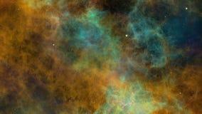 Nebulosa e estrelas coloridas, universo ilustração do vetor
