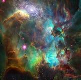 Nebulosa e galáxia vívidas ilustração do vetor