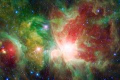Nebulosa e galáxias no espaço Elementos desta imagem fornecidos pela NASA ilustração do vetor