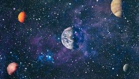 Nebulosa e galáxias no espaço Planeta e galáxia - elementos desta imagem fornecidos pela NASA ilustração do vetor