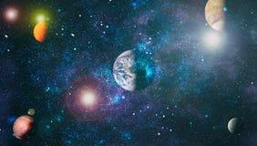 Nebulosa e galáxias no espaço Planeta e galáxia - elementos desta imagem fornecidos pela NASA ilustração royalty free