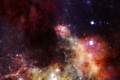 Nebulosa e gal?xias no espa?o Elementos desta imagem fornecidos pela NASA ilustração stock