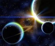 Nebulosa e pianeti Immagini Stock