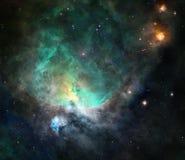 Nebulosa en espacio profundo ilustración del vector