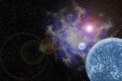 Nebulosa en galaxia con el fondo planetario, abstracto libre illustration