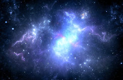 Nebulosa för djupt utrymme fotografering för bildbyråer