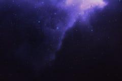 Nebulosa för himmel för stjärnklar natt Fotografering för Bildbyråer