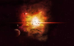Nebulosa imaginária do espaço profundo Foto de Stock