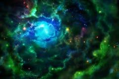 Nebulosa, incandescendo de dentro de ilustração do vetor
