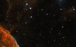 Nebulosa nel fondo dello spazio fotografia stock
