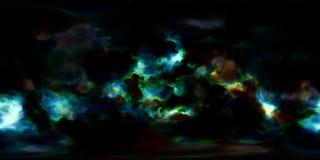Nebulosa och stjärnor i panorama för miljö för grad HDRI för djupt utrymme 360 Fotografering för Bildbyråer