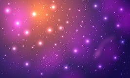 Nebulosa och stjärnor i utrymme Arkivfoton