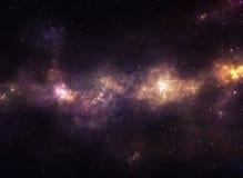 Nebulosa púrpura y amarilla ilustración del vector