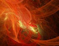 Nebulosa roja en espacio Fotografía de archivo