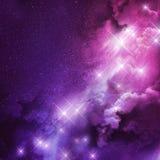Nebulosa rosada y púrpura ilustración del vector