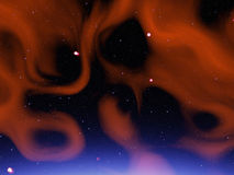 Nebulosa rossa Royalty Illustrazione gratis