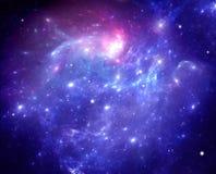 Nebulosa roxa do espaço Imagens de Stock Royalty Free