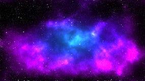 Nebulosa roxa e azul ilustração stock