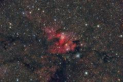 Nebulosa SH2-155 da emissão fotografia de stock royalty free