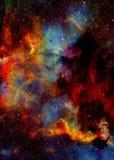 Nebulosa, spazio cosmico e stelle, fondo astratto cosmico blu royalty illustrazione gratis