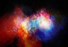 Nebulosa, spazio cosmico e stelle, fondo astratto cosmico blu Elementi di questa immagine ammobiliati dalla NASA illustrazione di stock