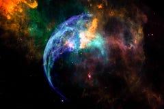 Nebulosa straniera della galassia di fantasia immagine stock libera da diritti