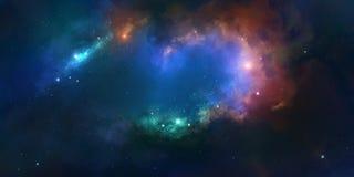 Nebulosa su un fondo di spazio cosmico fotografia stock libera da diritti