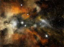 Nebulosa variopinta dello spazio Fotografie Stock Libere da Diritti