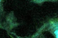 Nebulosa verde ilustración del vector