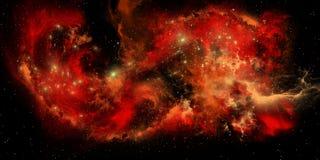 Nebulosa vermelha ilustração royalty free